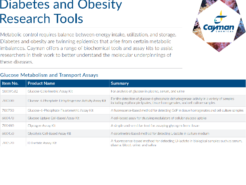 Download: Diabetes & obesity research tools flyer
