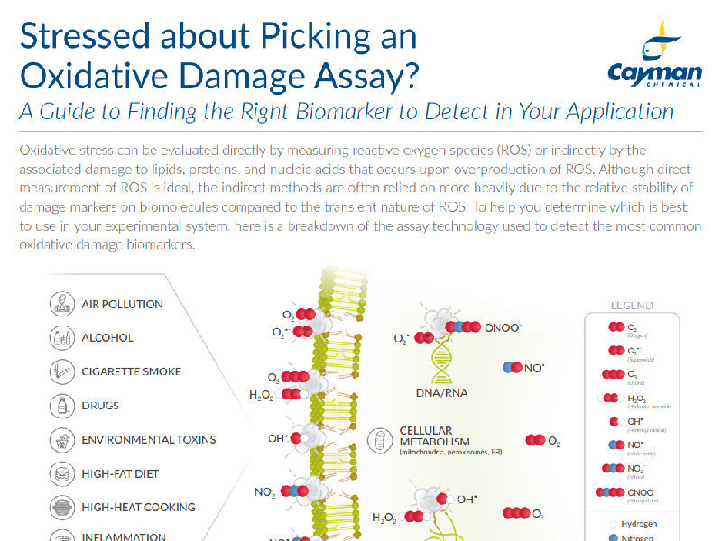 Download: Cayman Chemical OxStress assay selection guide