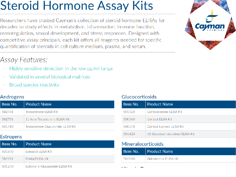 Download:Steroid hormone assay kits flyer