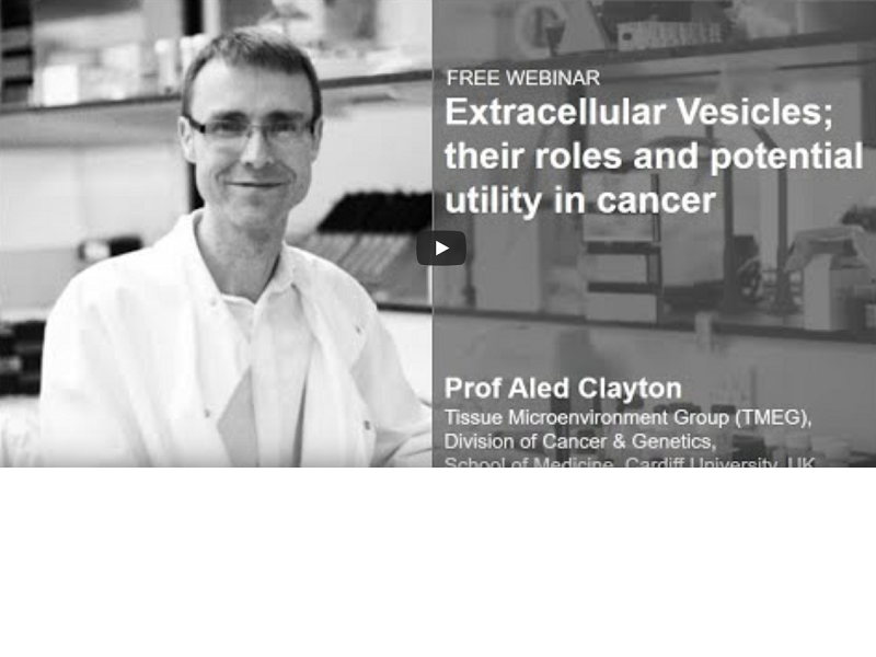 Webinar: Role of EVs and potential utility in cancer