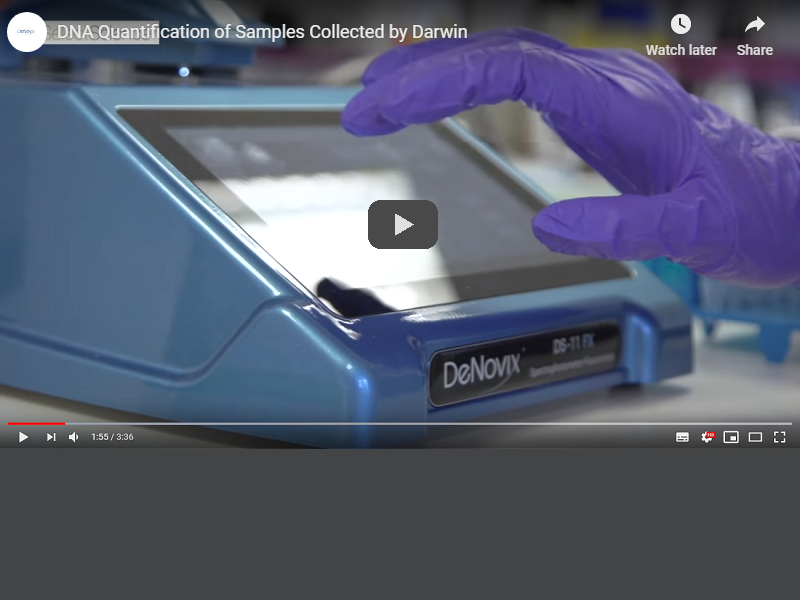 Video: DNA quantification of samples collected by Darwin