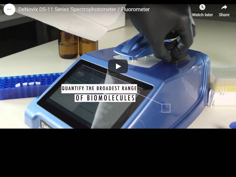Video: DS-11 series spectrophotometer/fluorometer