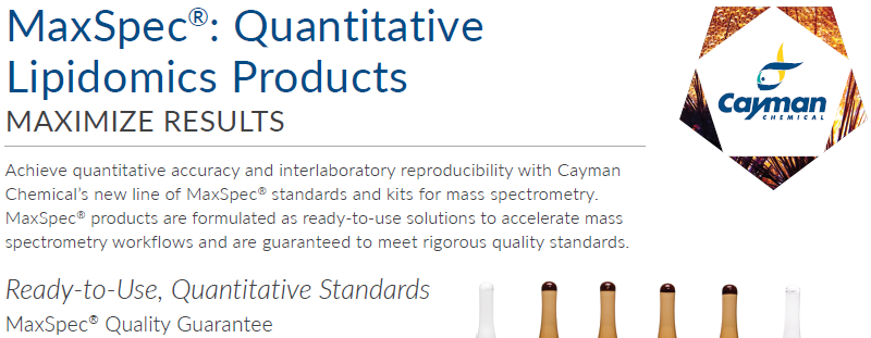 Download the Cayman Chemical MaxSpec® brochure