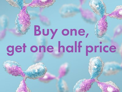 Buy one Rockland antibody and get one 50% off