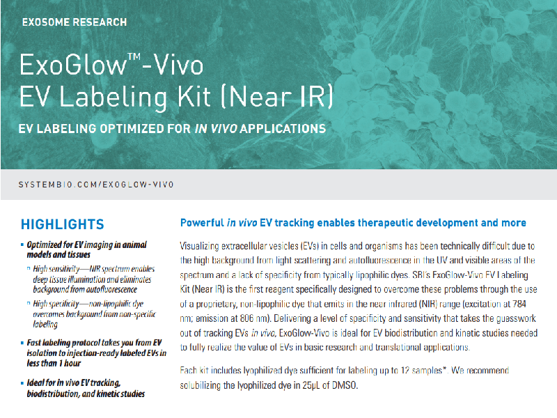 Download: ExoGlow-Vivo EV labelling kit flyer