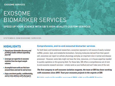 Download exosome biomarkers brochure