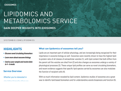 Download exosome lipidomics & metabolomics service brochure