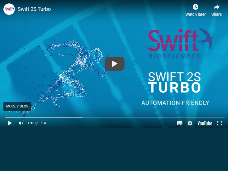 Video: Swift 2S Turbo DNA library preparation kits