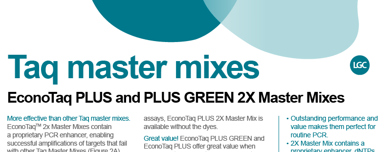 Download the taq master mixes brochure