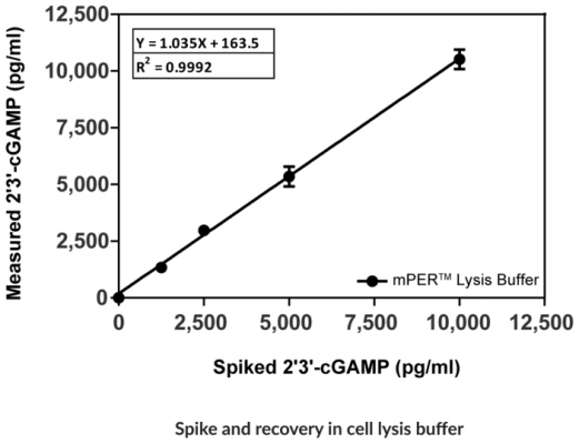 Spike & recovery in cell lysus buffer