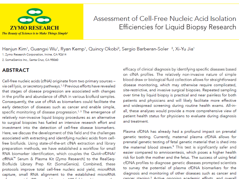 Download white paper: Cell-free nucleic acid isolation in liquid biopsy